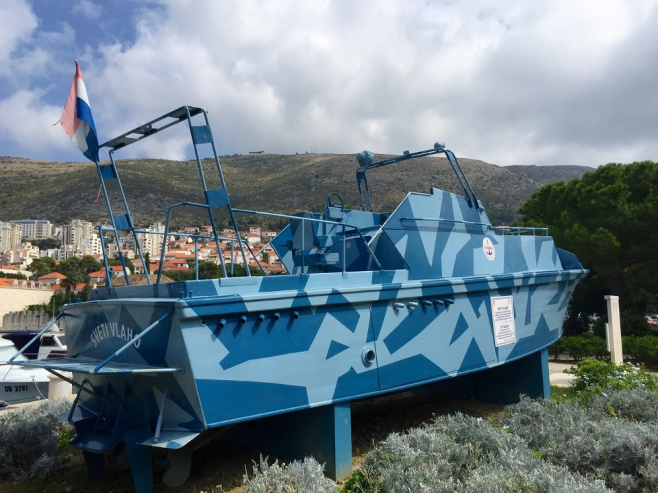 This boat was built to defend Dubrovnik in 1991