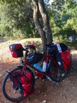 Ready for the off from Camping Solitudo, Dubrovnik