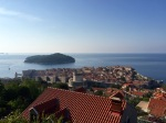 View over Dubrovnik as I climb up the road alongside