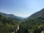 View down into Montenegro from border
