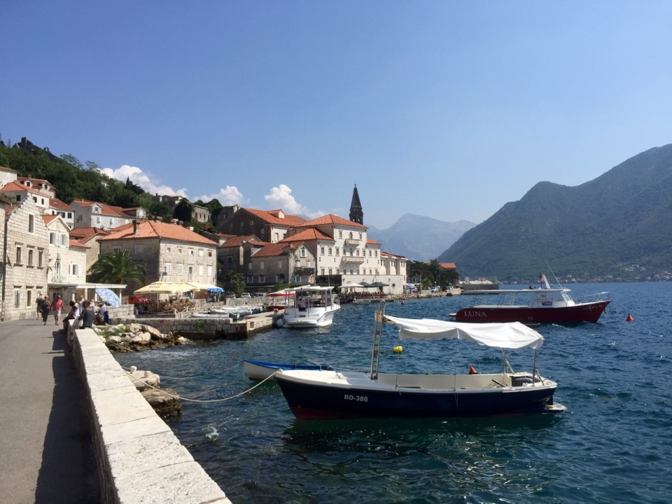 Boats bobbing in Perast