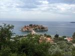 Island with land bridge, just off Montenegrin coast