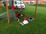 Set up at Camping Albania, in Barbullush