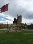 Tirana - imposing looking statue
