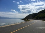 Good road alongside Lake Ohrid