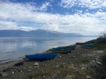 Fishing boats next to Lake Ohrid