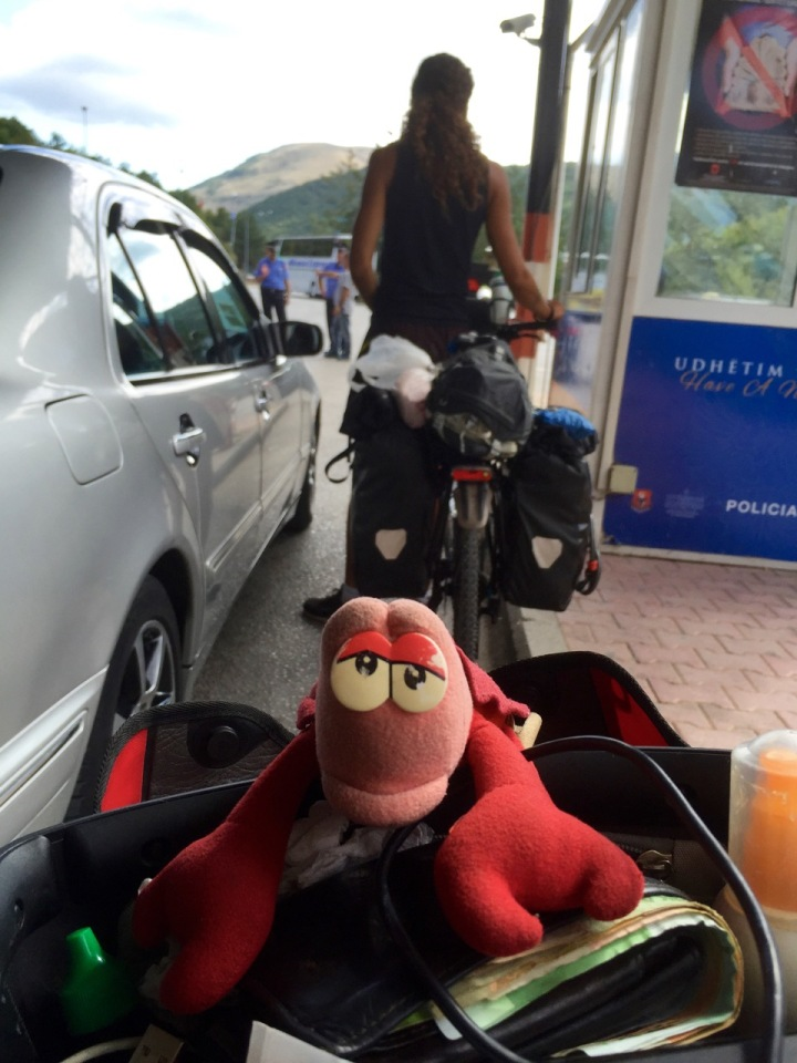 At the border into Greece, Lobster getting bored with waiting