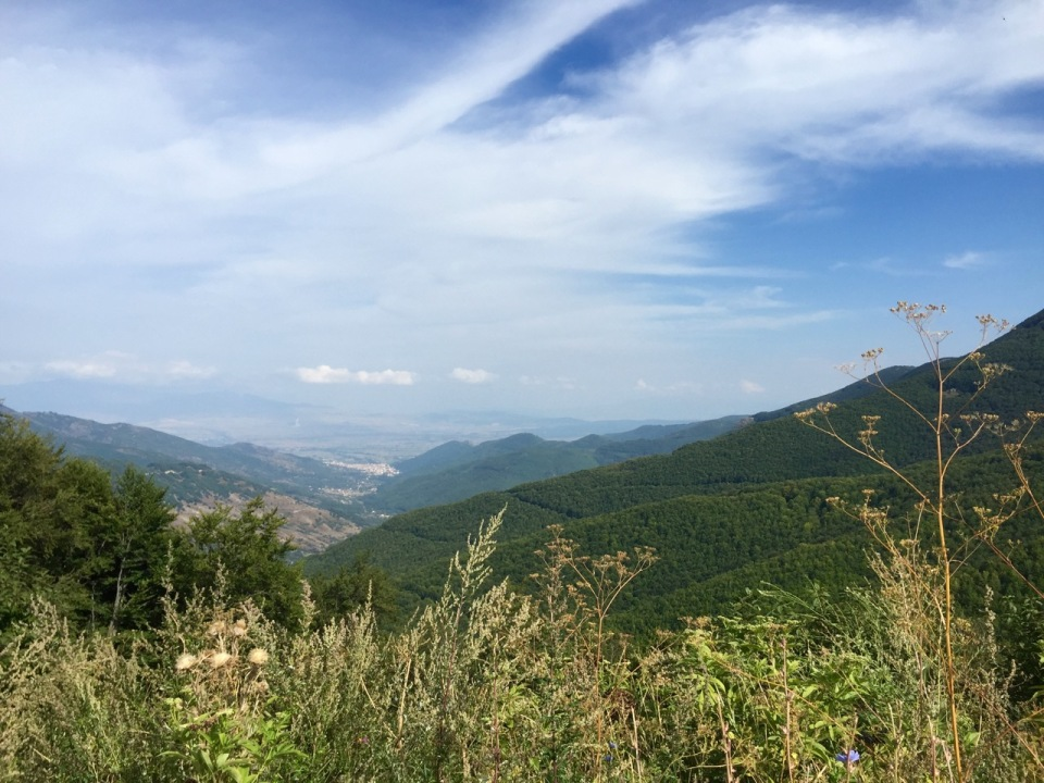 View from the top down towards Florina