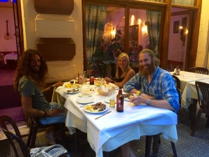 Dinner out in Florina with Tom, Clara and Jorn