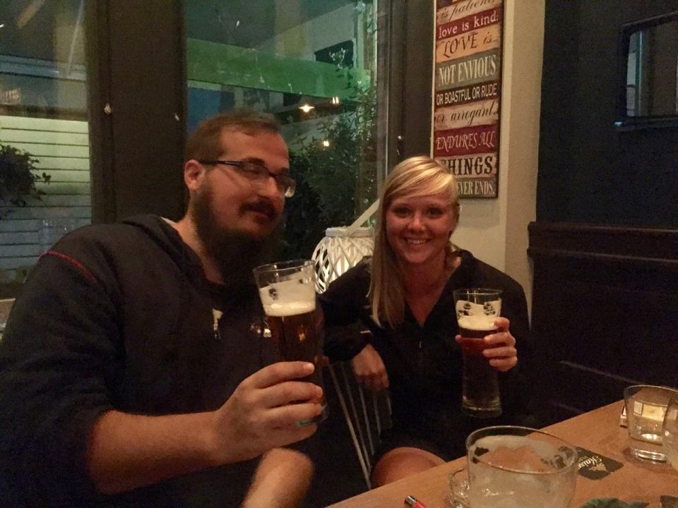 Alen and Clara in Murphy's Law - Edessa Irish Bar