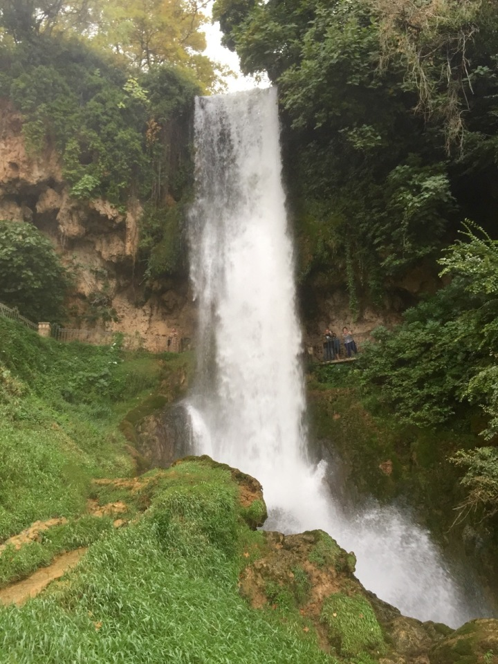 View from the bottom of the waterfall
