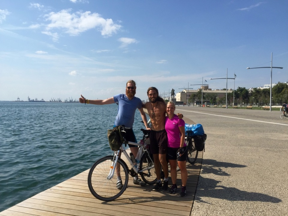 Tom, Jorn and Clara complete their tour in Thessaloniki