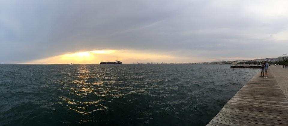 Thessaloniki waterfront panorama