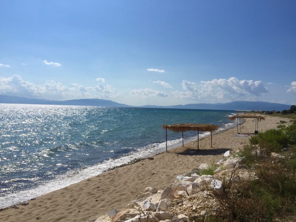 Beach on the road to Kavala