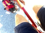An accidental pedalling leg shot that's quite cool