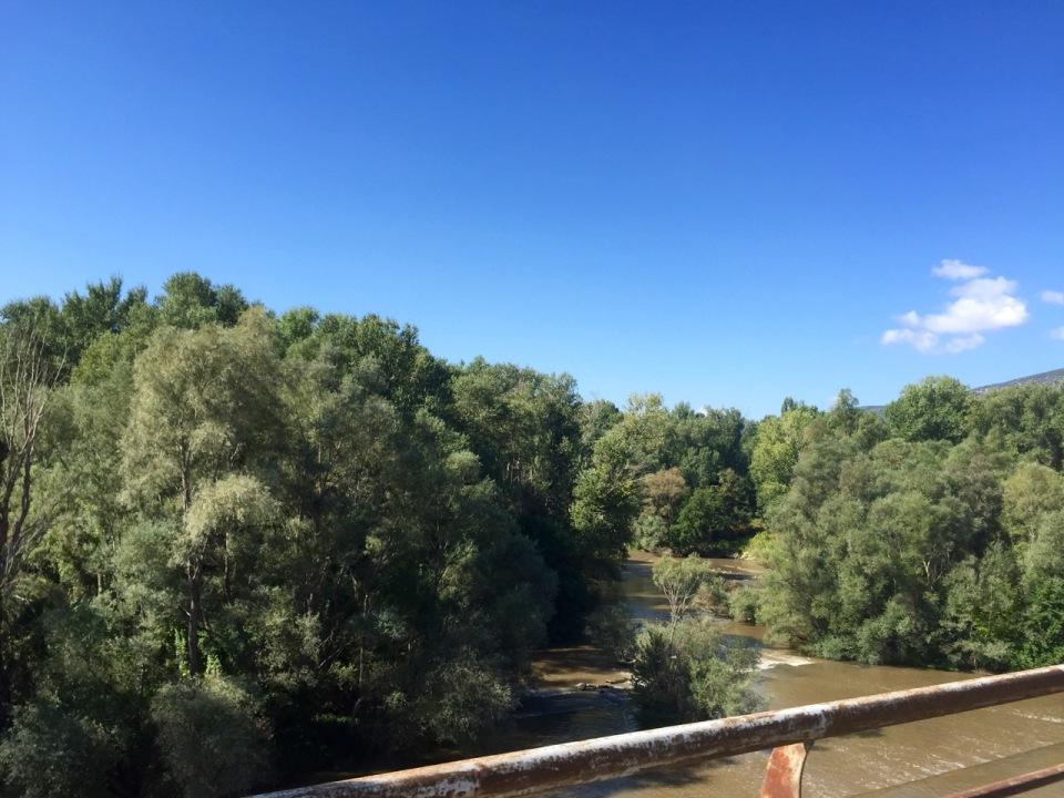 Crossing the river, Nestos Potamos