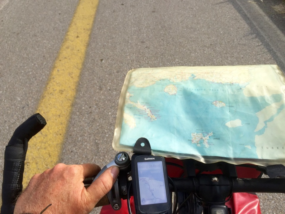 My heads up display whilst cycling