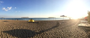 Beach at Municipal Camping, Alexandroupoli