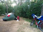 Overnight spot at Camping Municipal, Alexandroupoli