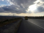 Long road with lots of hills and lorries, but this stretch was nice and smooth