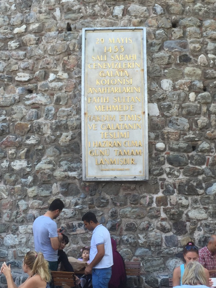 Galata Tower - think it as built on the site of an older Byzantine Tower