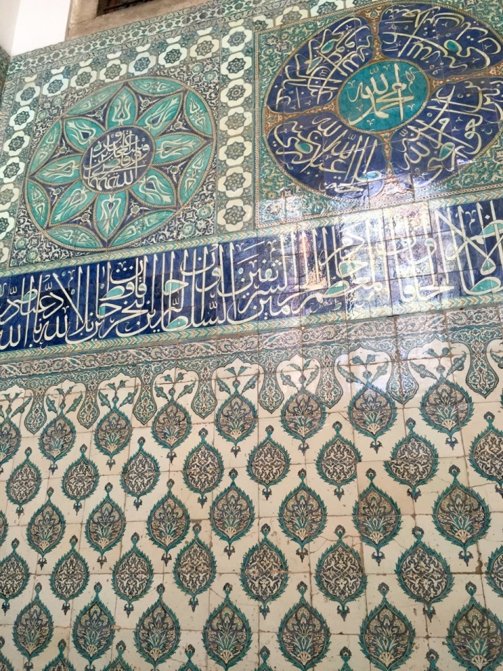 Palace harem - lots of very old tiling