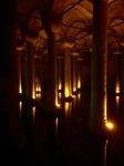 Columns artfully lit