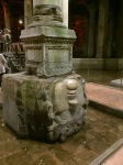 Upside-down medusa head, Basilica Cistern