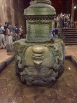 Upside-down medusa head 2, Basilica Cistern