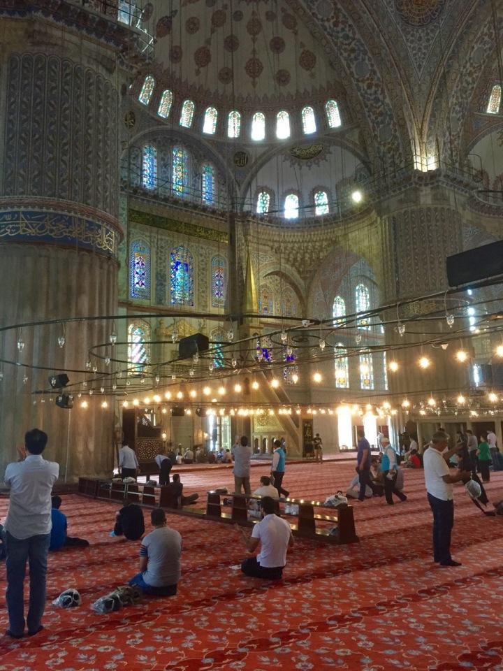 Interior of Blue Mosque 2