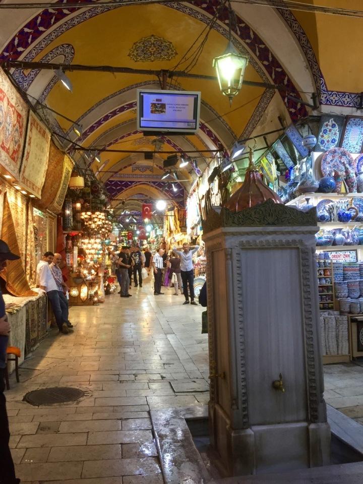 Drinking fountain in bazaar