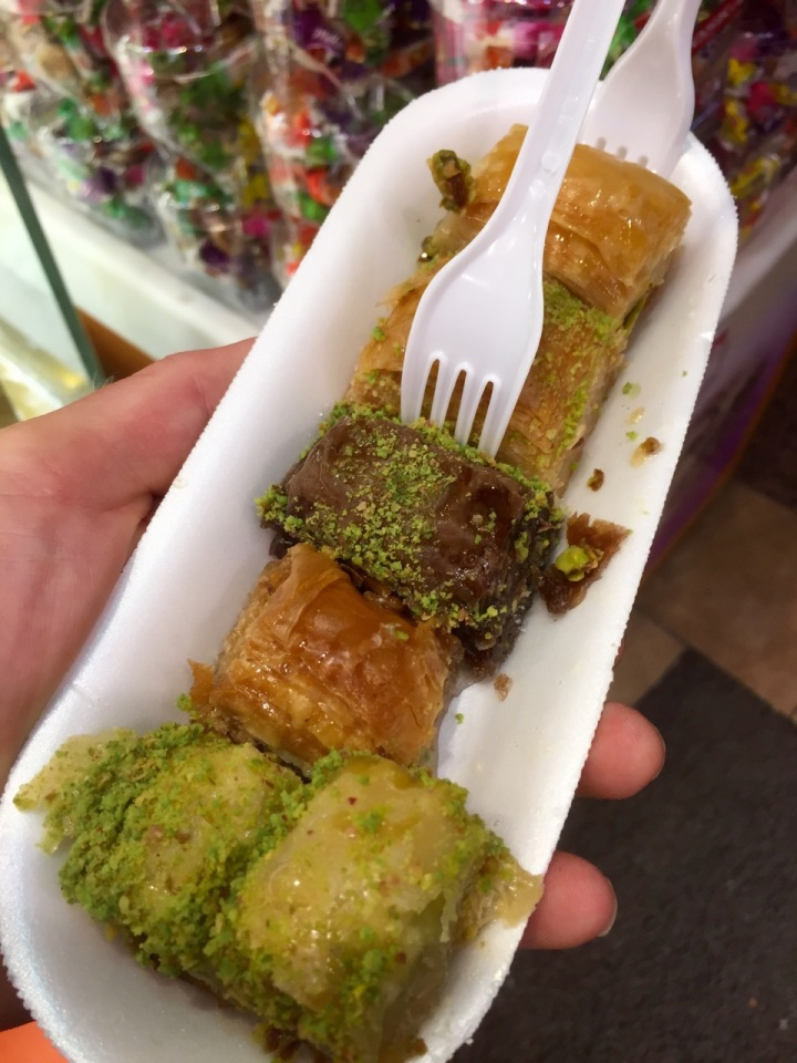 Baklava - be rude not to try some before leaving; this was quite a lot though!