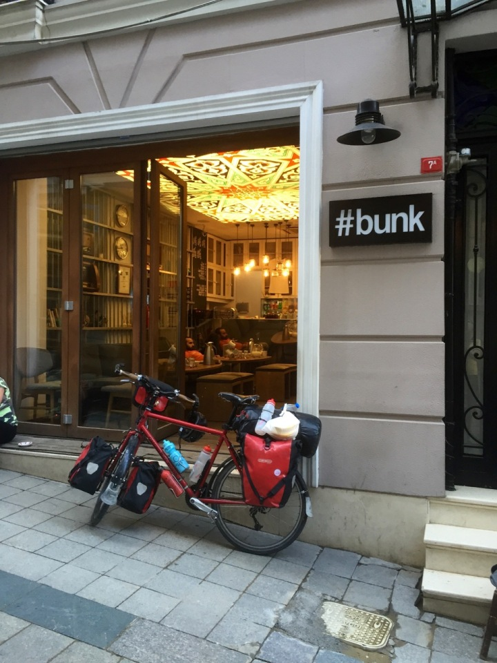 Bike ready for the the final leg home; leaving Istanbul and #bunk hostel