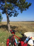 Pedalling through countryside to Plovdiv