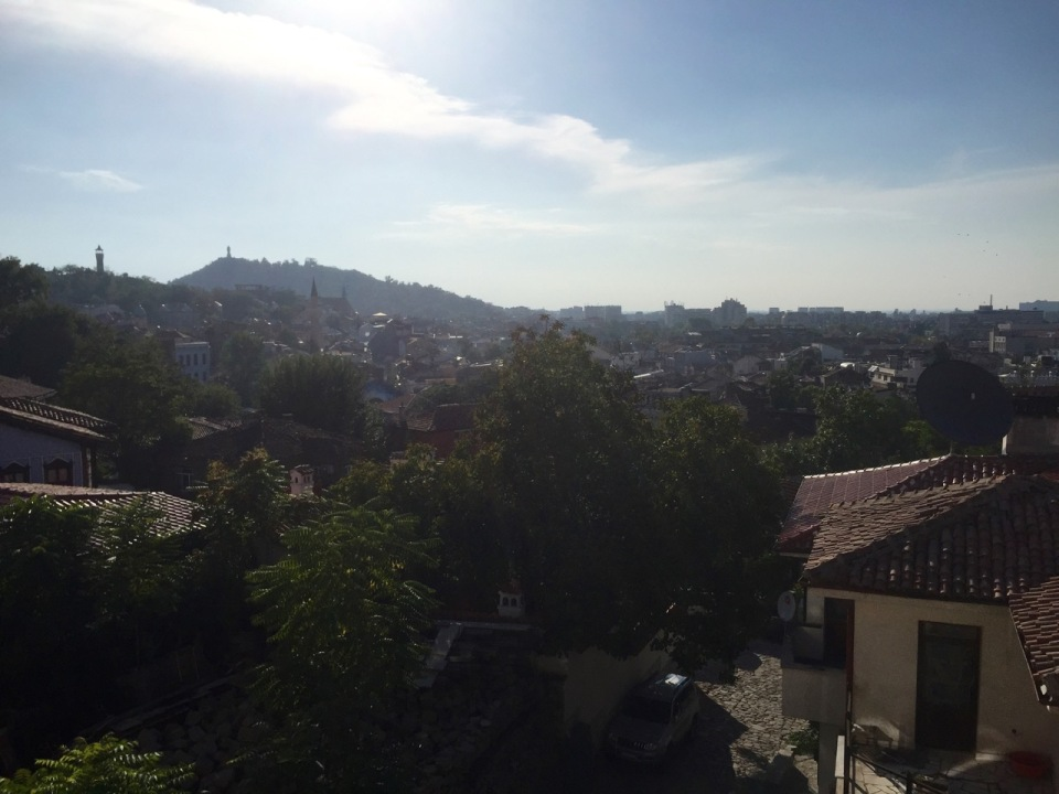 Plovdiv built over several hills - view from Hostel room