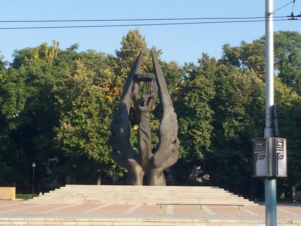Statue on the way out of Plovdiv