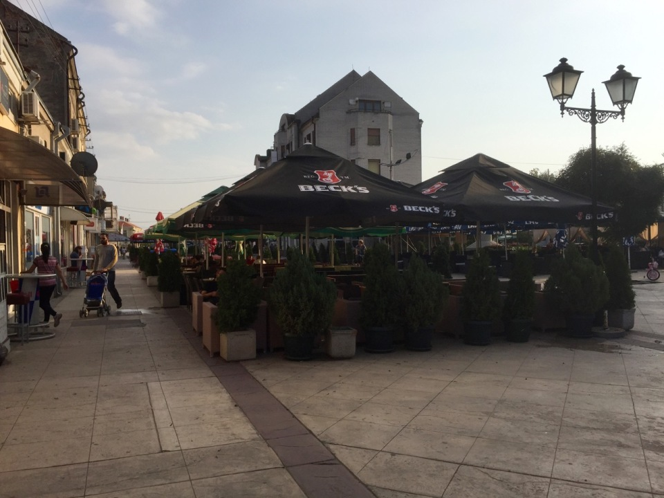 Lots of bars and restaurants in Negotin centre