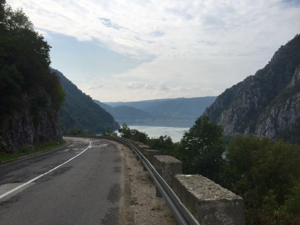 Quiet road continues through gorge
