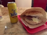 Dinner - burger and beer, Serbians fond of their burgers