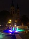 Fountain and lights, Sombor