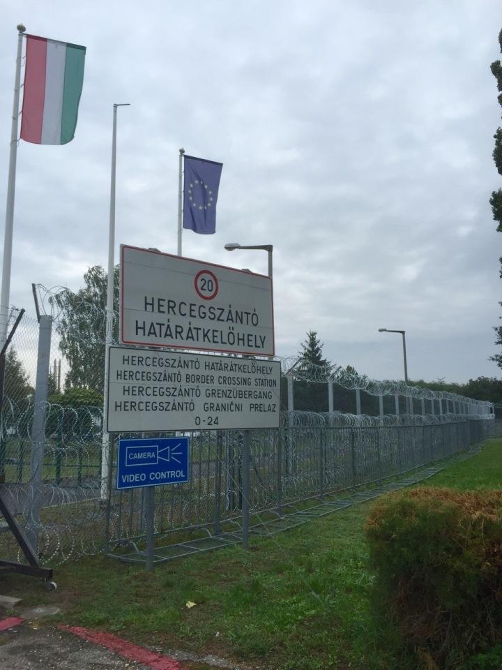 Big razor wire fence