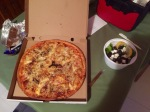 Pizza and salad dinner very good
