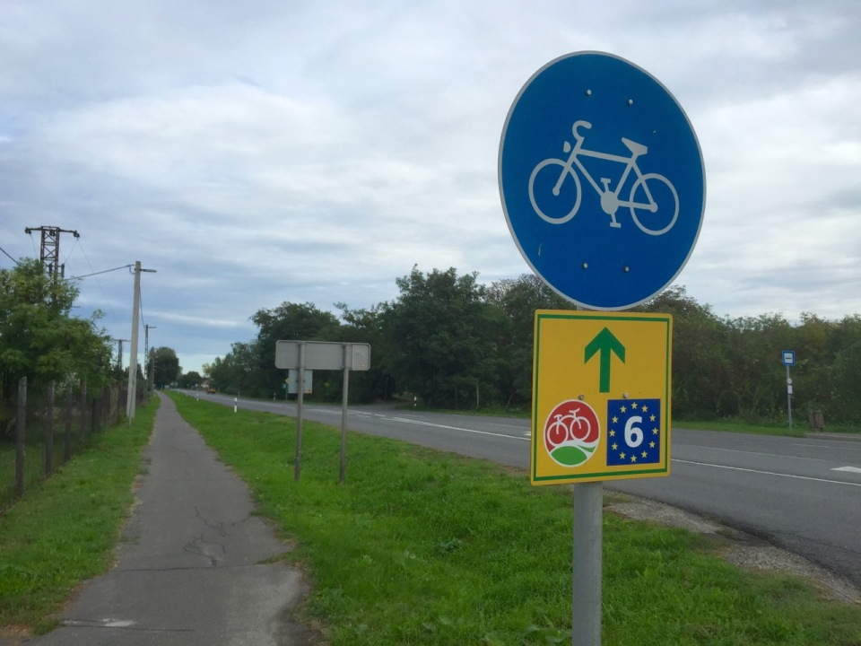 Trying to follow Eurovelo 6 signs to Budapest today