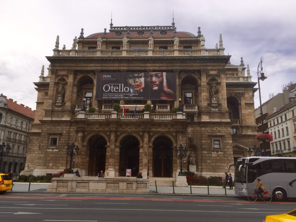 Into Budapest, past Opera House