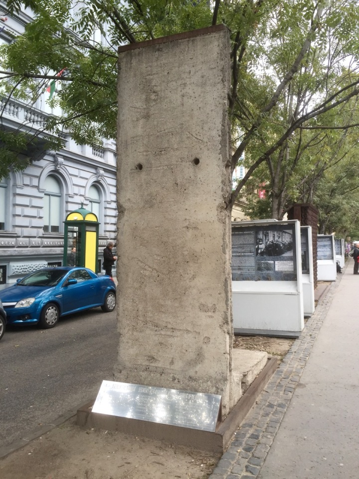 Bit of the Berlin Wall outside the House of Terror