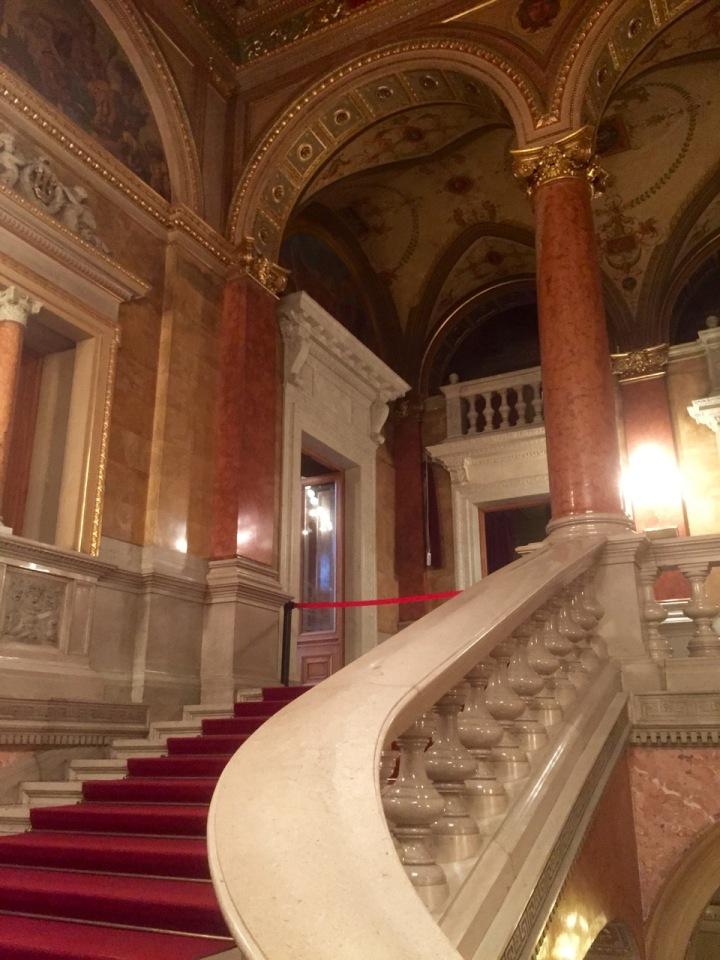 Staircase to auditorium