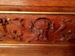 Elaborate carving everywhere - spotted Green Man