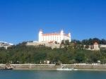 Bratislava Castle dominates the skyline
