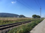 Still in Slovakia at this point - cycle path alongside railway line
