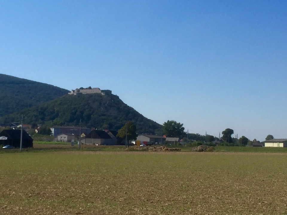 Castle on hilltop, Hainburg an der Donau - think this was where I crossed into Austria